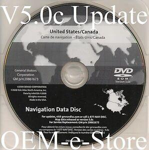 2009 2010 2011 Chevrolet Tahoe LTZ LT & Hybrid Navigation DVD Map Disc