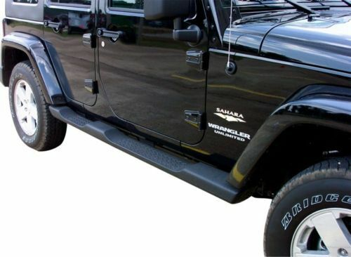 2007 2012 Jeep Wrangler Unlimited JK 4 Door Mopar Side Steps Running Boards