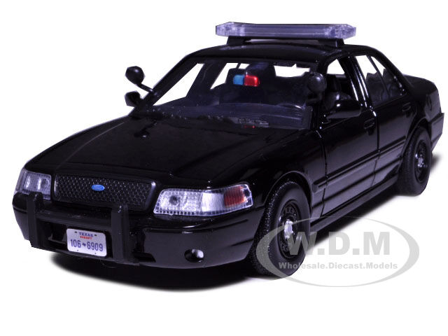 2007 Ford Crown Victoria Police Car Black 1 24