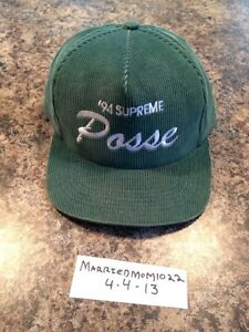 fd03a52a238 ... 2008 Supreme Green Posse Hat Snapback Camp Cap Tyler The ... Supreme  Snapback Posse ...