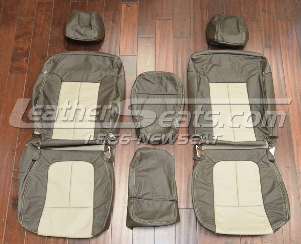 2012 Ford F 150 F150 SuperCrew Upholstery Leather Seat Covers 09 10 11