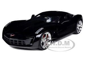 Corvette Stingray on 2009 Chevrolet Corvette Stingray Concept Black 1 24 By Jada 92386