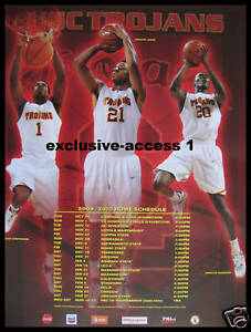 2009 USC Trojans Men's Basketball Schedule Poster | eBay