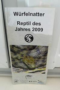 2009 WÜRFELNATTER REPTIL DES JAHRES 2009 SCHLANGE FÜHRER BROSCHÜRE ZOO !! - <span itemprop='availableAtOrFrom'>Köln, Deutschland</span> - 2009 WÜRFELNATTER REPTIL DES JAHRES 2009 SCHLANGE FÜHRER BROSCHÜRE ZOO !! - Köln, Deutschland