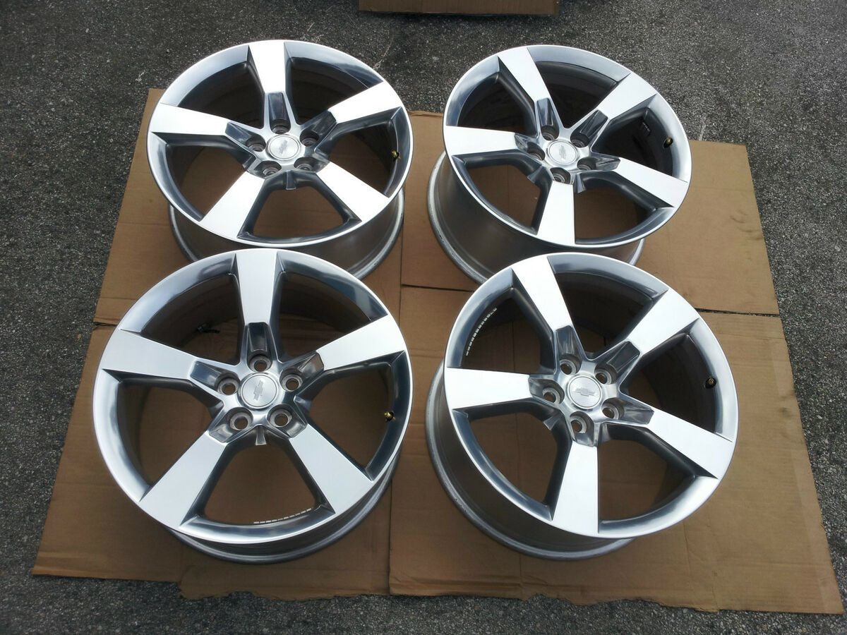 "2010 2012 Genuine Factory Camaro Polish SS 20"" Wheels Polished Rims"