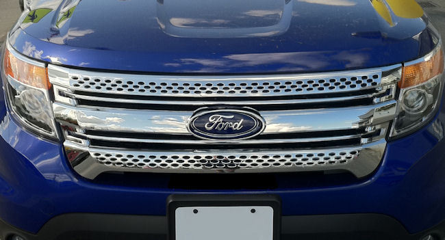 Details About 1PC ABS CHROME OVERLAY GRILLE GRILL FITS 2011 2012 2013 2014 2015 FORD EXPLORER