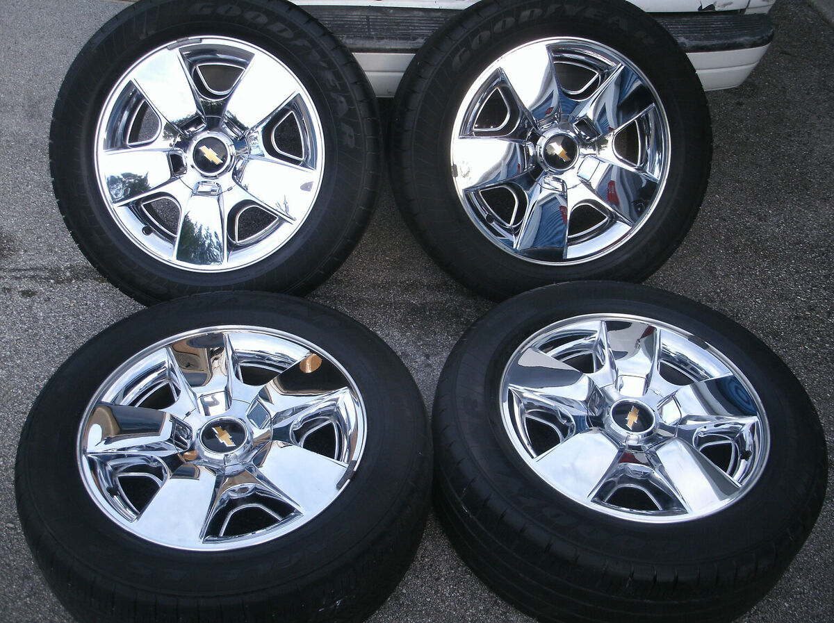2011 Chevrolet Tahoe Silverado OEM 20 Wheels Chrome Avalanche Rims