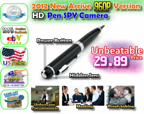 2012 1280P x 960P HD Spy Pen Hidden Mini Camera DVR Video Recorder 3264x2448 in Consumer Electronics, Home Surveillance, Digital Video Recorders, Cards | eBay