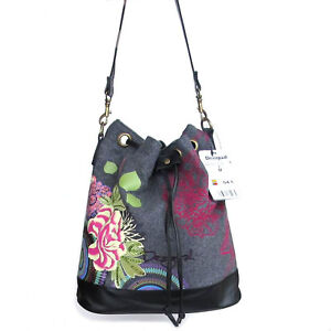 2012-DESIGUAL-SACO-FIELTRO-CARRUSEL-Shoulder-Tasche-Bag-Handtasche-Handbag-New