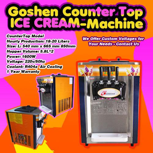 Direct Commercial Countertop Goshen Ice Cream Machine 220V 60Hz