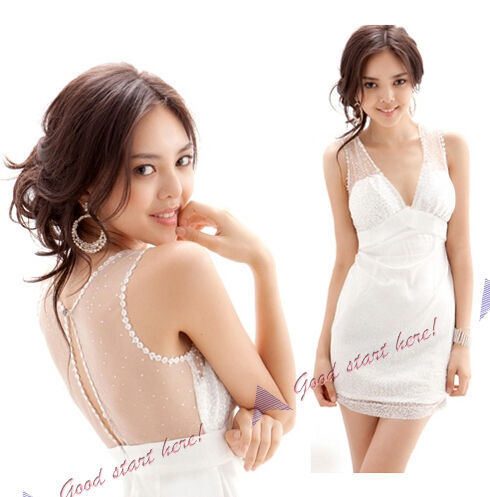 2012 Hot Sell New Women Lady Temperament Lace Silm Sleeveless Mini Dress