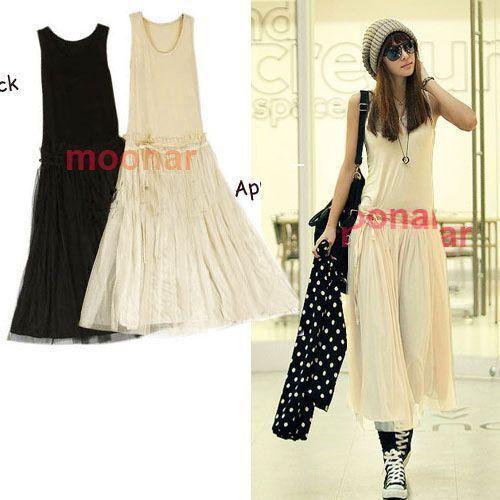 NEW Fashion Bohemian Women Lady Long BOHO Vest dresses