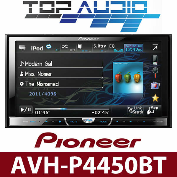 2012 Pioneer AVH P4450BT Car DVD Bluetooth 7 Monitor Car
