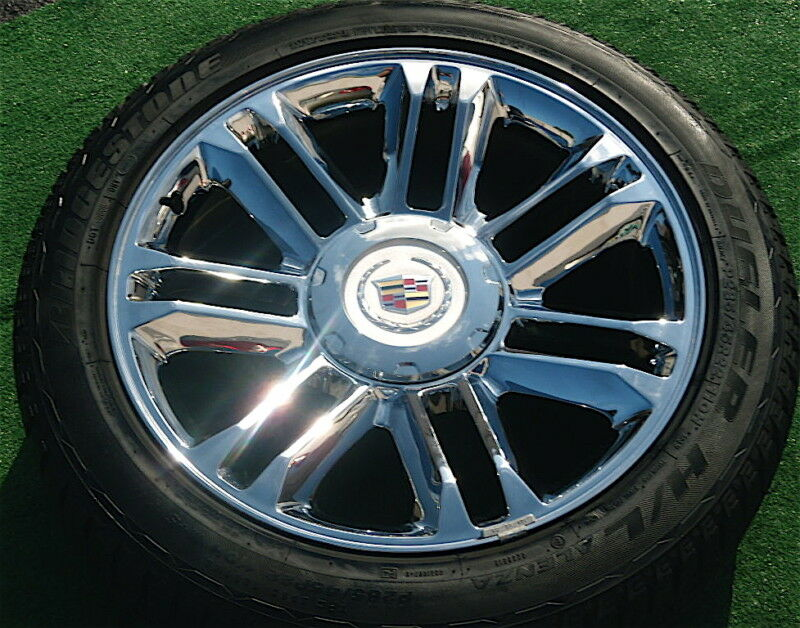 Genuine OEM Factory GM Cadillac ESCALADE PLATINUM 22 inch WHEELS TIRES