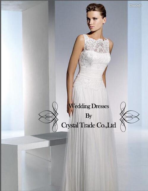 2012 Ruffle Lace Wedding Evening dress formal Bridal Bridesmaid prom