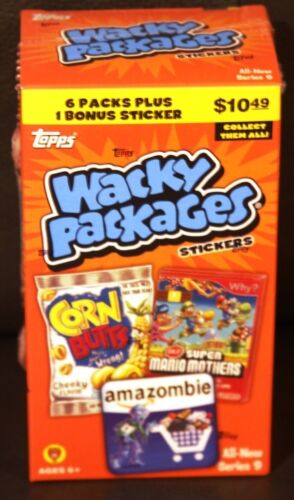 2012 WACKY PACKAGES SERIES ANS 9 SEALED BONUS BOX 6 PKS +1 BONUS STICKER in Collectibles, Trading Cards, Other | eBay