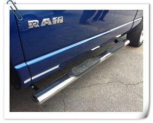 "2013 2012 DODGE RAM 1500 2500 QUAD CAB 5"" OVAL SS Nerf Steps Bars"