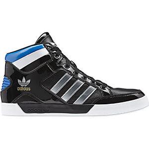 2013 adidas originals hard court hi black trainers