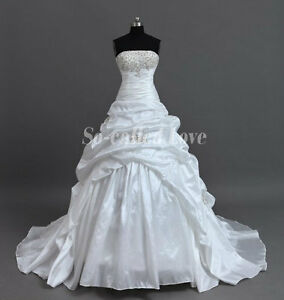 2013 cheap ball gown long court train white ivory bridal for Long wedding dresses under 100