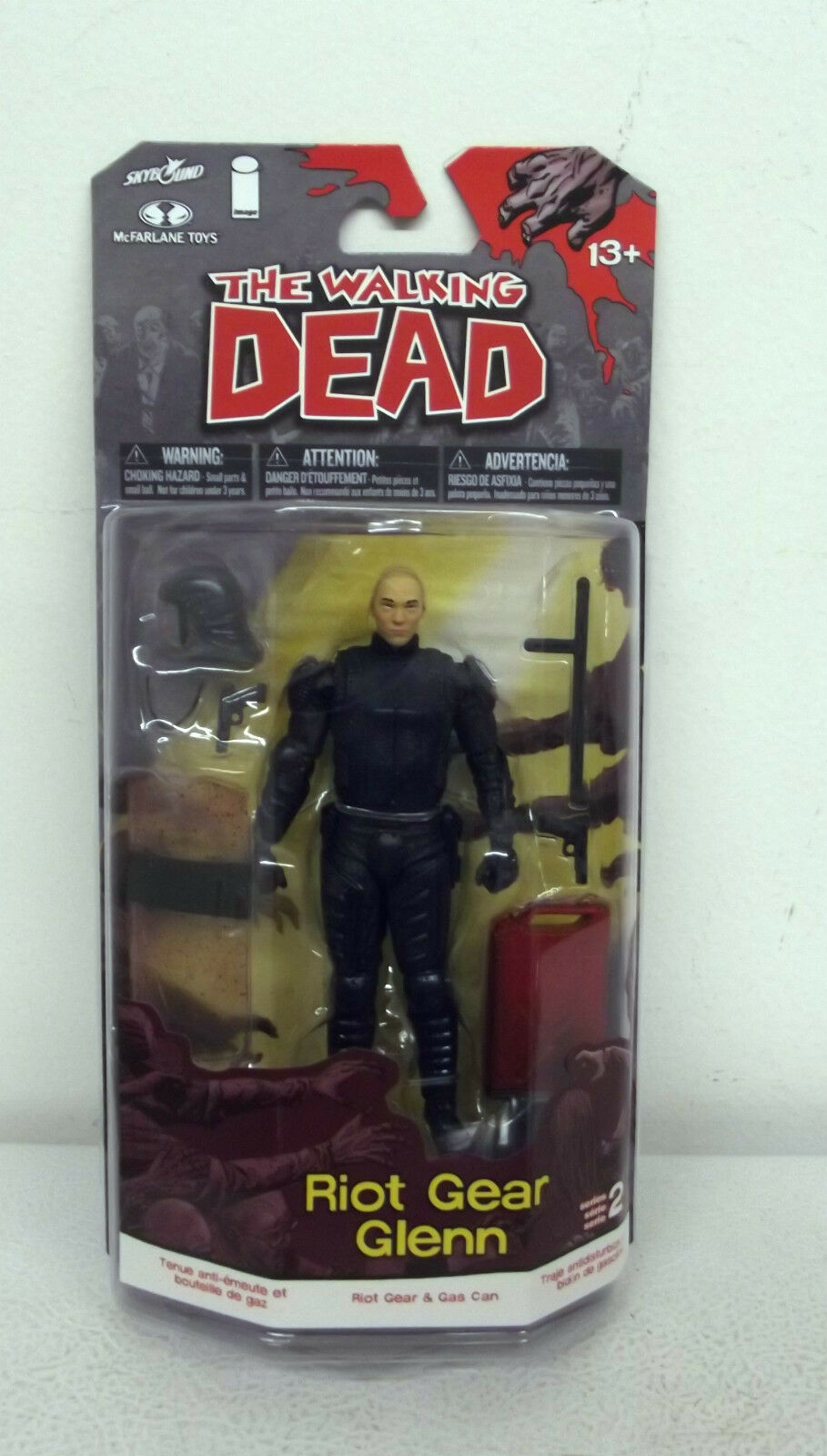 2013 McFarlane Toys The Walking Dead Series 2 Riot Gear Glenn Action Figure TWD-08