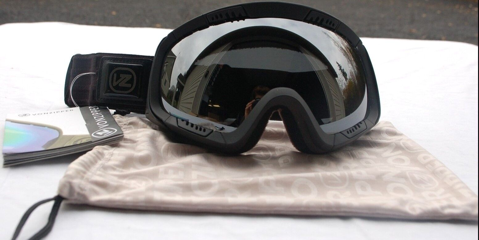 black snowboard goggles  black satin snowboard