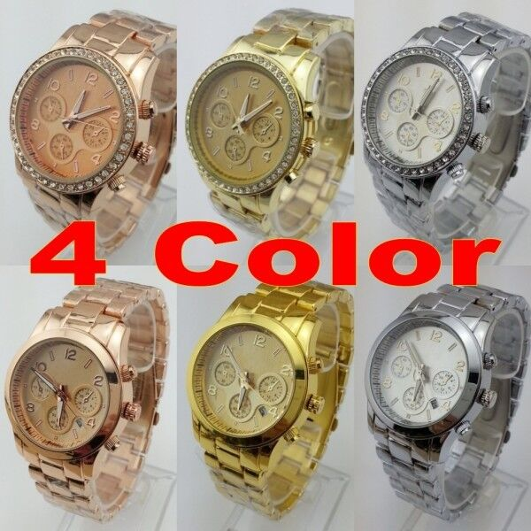 2013 New style Fashion Watches Stainless Steel Women/men's Wrist Watch 4 color