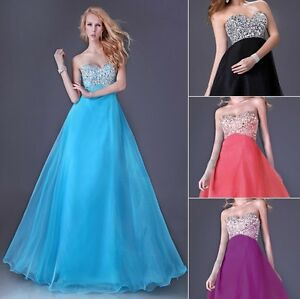 Prom Party Dress on Tulle Formal Evening Party Long Prom Evening Dresses Gown   Ebay