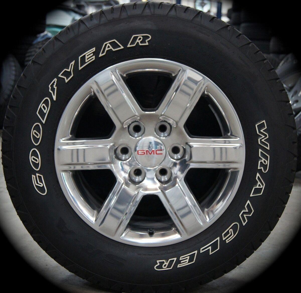 """2014 GMC Sierra Yukon Polished 18"""" Wheels Rims Tires Silverado Suburban Tahoe"""