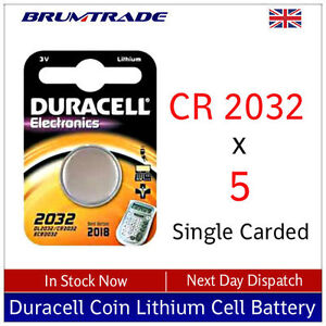 2032-Duracell-3v-Coin-Lithium-Zelle-Battery-Carded-CR2032-X5