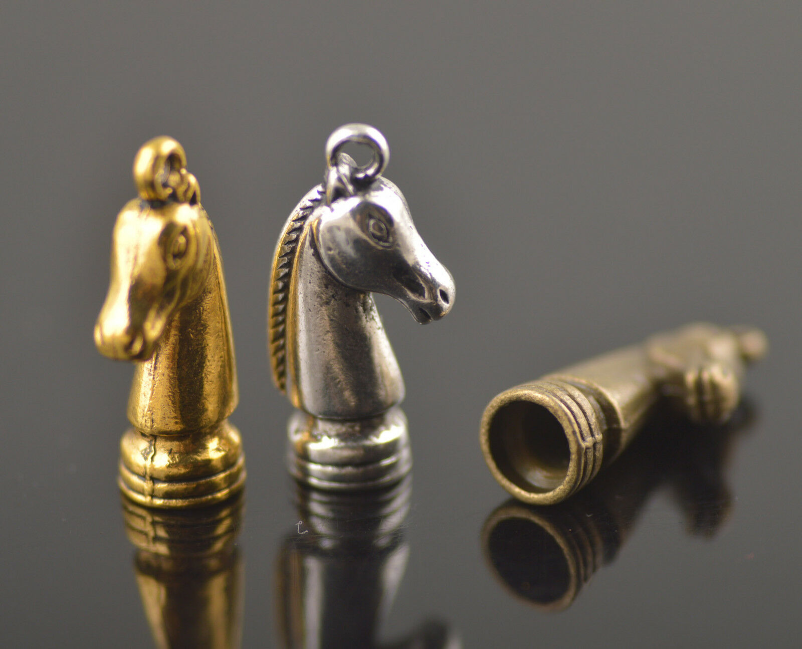 8ps Horse Head Charms Bead End Caps Stopper Fit 6mm Cord