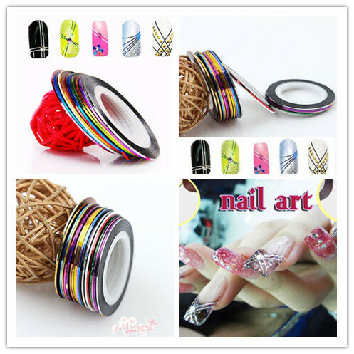 20Pcs Mixed Roll Wrap Striping Tape Line Lady Nail Art Decoration Sticker DAA in Health & Beauty, Nail Care & Polish, Nail Art | eBay