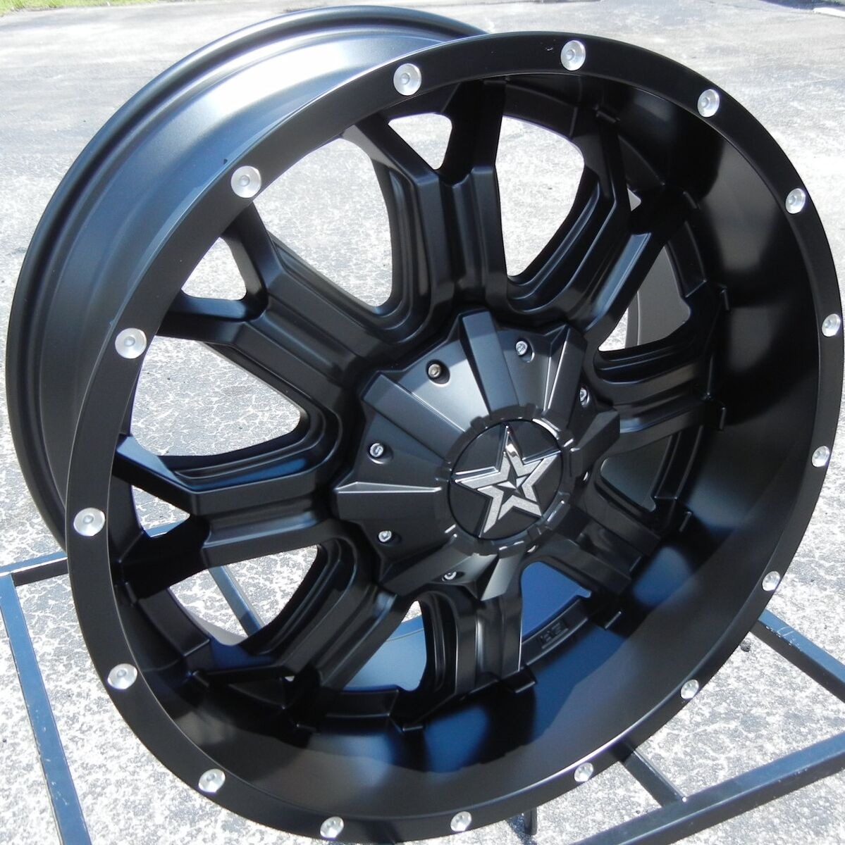 "20x9"" Tis 535B Black Wheels Rims Chevy Silverado GMC 1500 Ford F 150 Expedition"