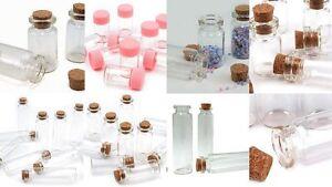 20er glas fl schchen aufbewahrung mini flaschen korken ebay. Black Bedroom Furniture Sets. Home Design Ideas