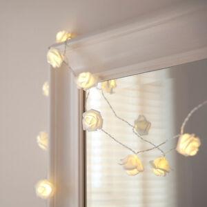 20er led lichterkette rose blumen lichterkette batteriebetrieb muttertag deko ebay. Black Bedroom Furniture Sets. Home Design Ideas