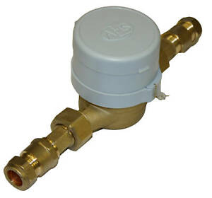 20mm- 3/4 BSP Cold Water Meter: copper pipe connection | eBay