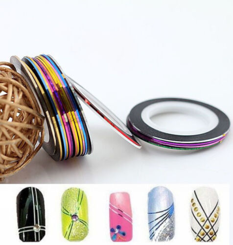 20pcs Mixed-Colors Charm Striping Tape Line Lady Nail Art Decoration Sticker DAA in Health & Beauty, Nail Care & Polish, Nail Art | eBay
