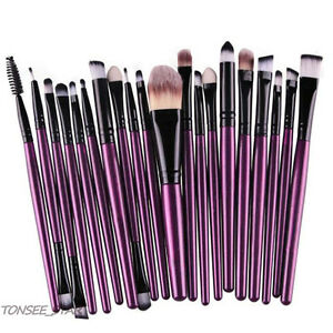20x-PRO-Brushes-Pinsel-Tools-Make-up-Wolle-Koerperpflege-Set-bilden-Buersten-Satz