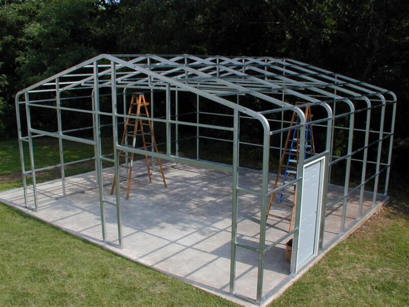 Steel Frame Building Kits : Plan from making a sheds pole barn kit