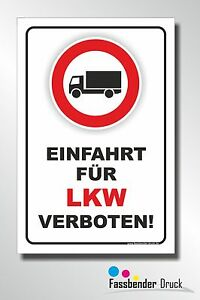 20x30cm einfahrt f r lkw verboten schild aufkleber verbotsschild d 012 ebay. Black Bedroom Furniture Sets. Home Design Ideas