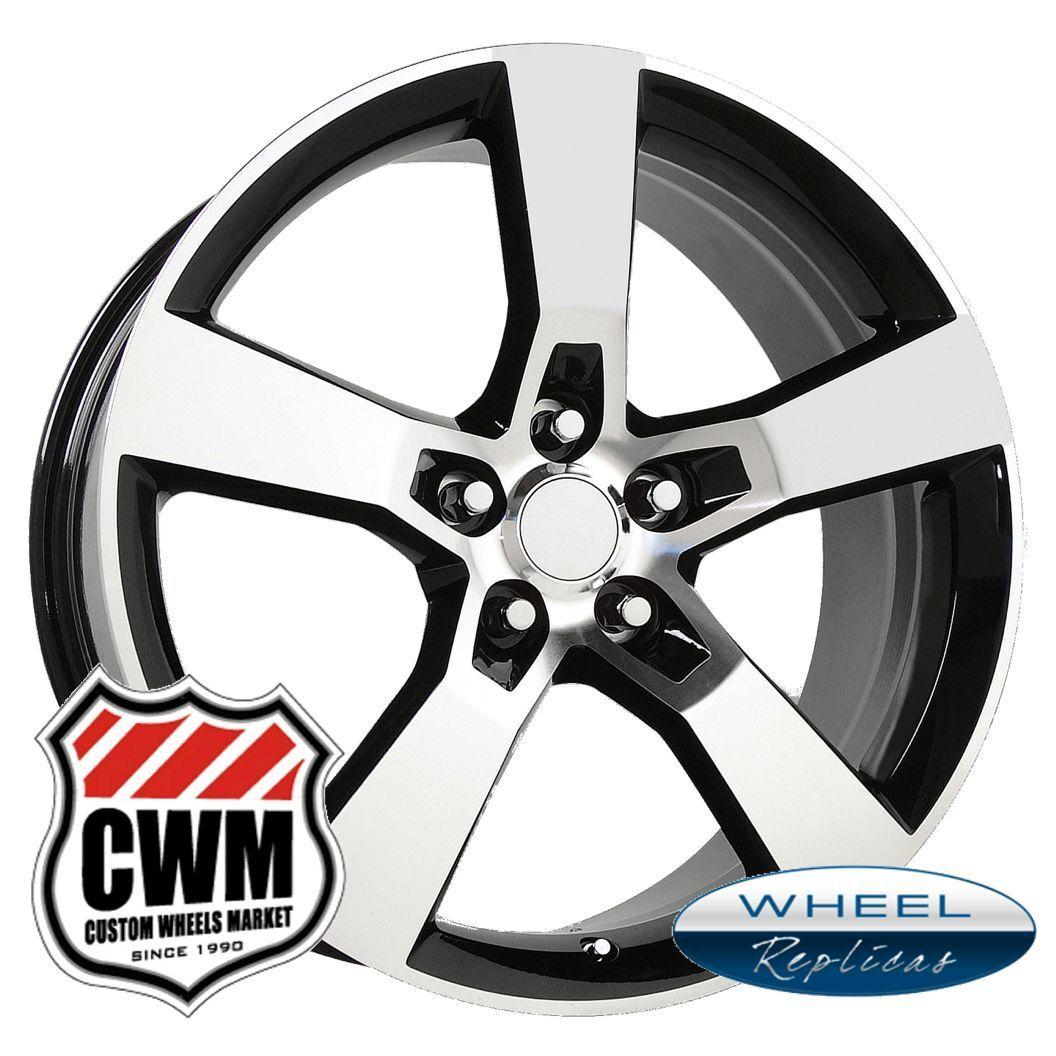 "20x8"" 20x9"" 2010 Camaro SS Black Machined Staggered Wheels Rims for Camaro 2013"