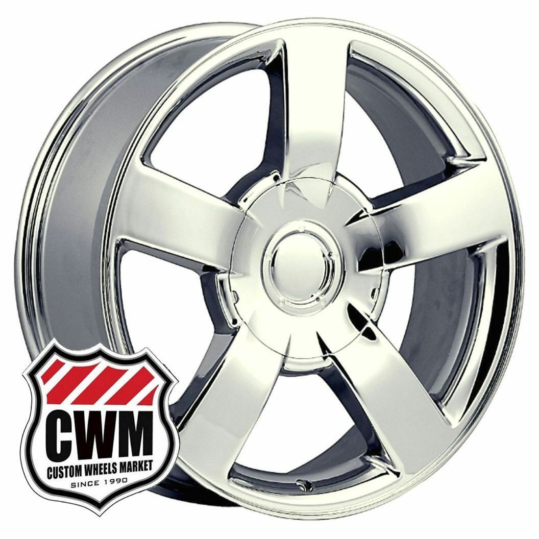 "20x8 5"" Chevy Silverado SS Style Chrome Wheels Rims for GMC Yukon Denali 2003"