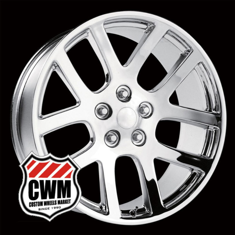 20x9 SRT10 Style Replica Chrome Wheels Rims 5 Lug for Dodge RAM 1500 2002 2011