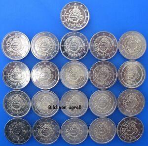 21-x-2-EURO-GEDENKMUNZE-10-JAHRE-EURO-BARGELD-2012