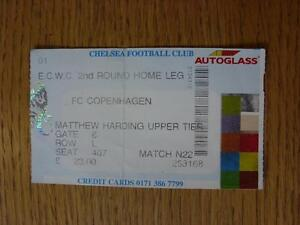 22-10-1998-Ticket-Chelsea-v-Copenhagen-European-Cup-Winners-Cup-Date-Not-Prin