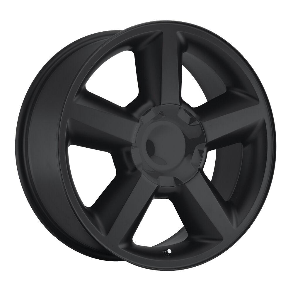 "22"" 22x10 Tahoe Black Chevy 1500 SS Silverado Wheels Rims Tires Set Package"