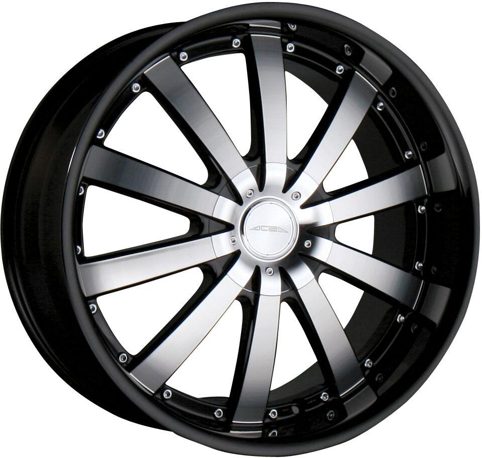 22 Ace Executive Black Wheels Rims Porsche Cayenne Audi Q7 VW Touareg