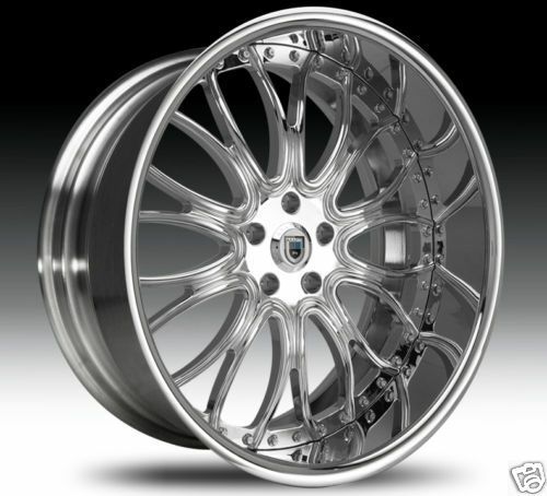 "22"" asanti AF145 AF 145 Chrome Multi 2 Piece 5 6 Lug Rims Wheels Tires Package"