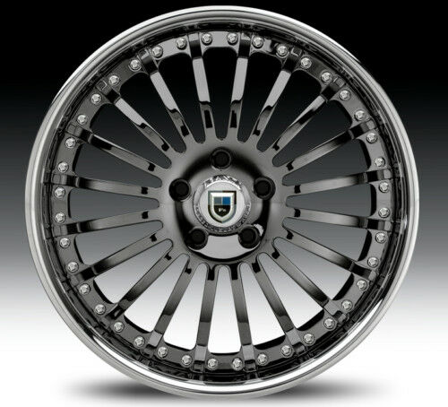"22"" asanti AF122 Black Chrome Wheels Rims 2 Piece Tone"