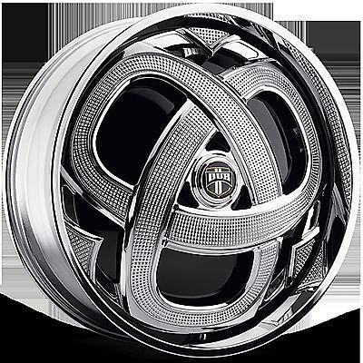 22 Dub Spin Markee Wheel Set Chrome Spinner 22x8 0 rwd 5 6 Lug Rims