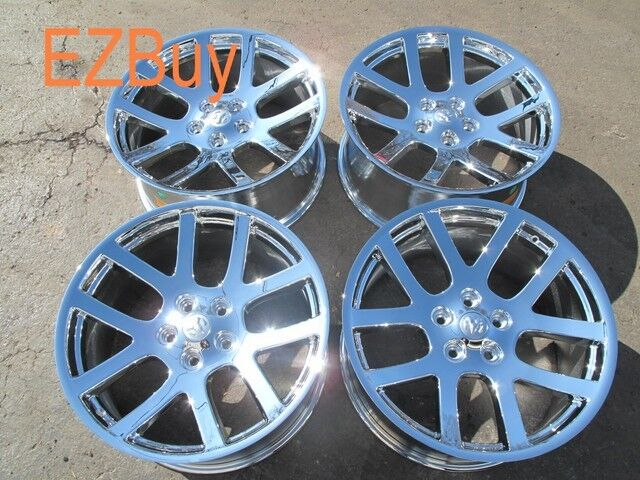 "22"" Dodge RAM 1500 SRT10 Style Set of Four New Chrome Wheels Rims 2223"